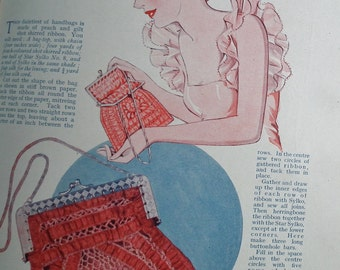 Vintage Sewing Book 20s 30s Needlecraft Good Needlework Gift Book Second Gift-Book c. 1930 1920s 1930s embroidery - baby knitting patterns