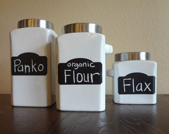 Market Style Chalkboard Labels, Mason Jar Labels, Kitchen Labels, Chalkboard Stickers