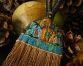 Antique Hand Painted Whisk Broom Handmade Whisk Brush Primtive Folk Art Vintage Treasures Wall HangingYourFineHouse
