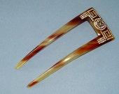Art Deco Hair Comb Tortoiseshell and Diamante Hair Slide Hair Accessory Vintage