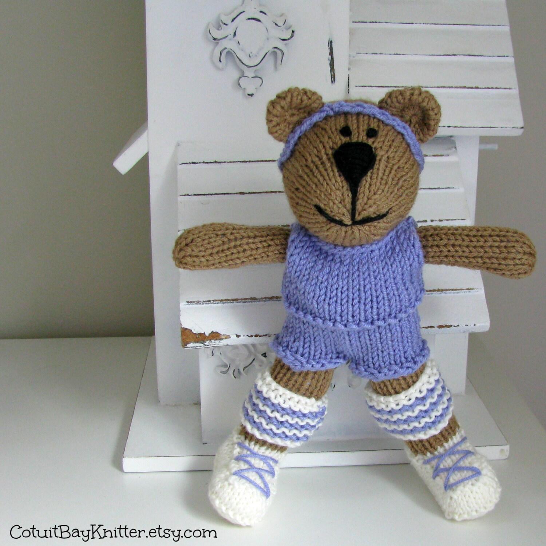 Knitting Stuffed Animals : Knitted toy hand knit bear stuffed animal by cotuitbayknitter