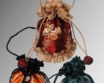 Medieval or Baroque Renaissance Style Elegant Hand Bag Pick Your Purse Color