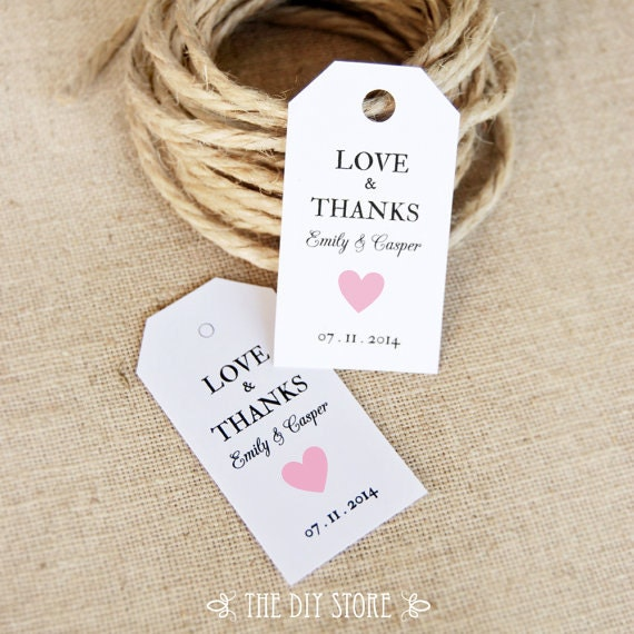 Wedding Thank You Gift Tags Template : ... Tags, Soft Pink Heart, Favor tag, Gift Tag, Thank You Tag, Wedding