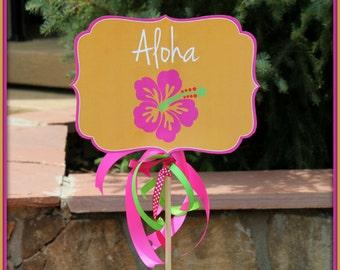 Luau Yard Sign, Luau Birthday, Luau Shower, Aloha Yard Sign, Instant Printable PDF