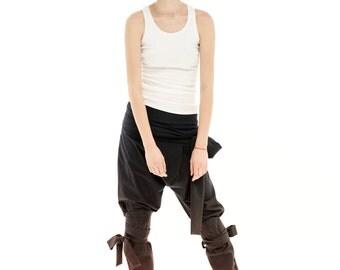 Baggy Trousers, Womens Harem Trousers, Cotton Black Pants, High Waist Pants, Womens Pants, Drop Crotch Pants, Maxi Pants, Plus Size Pants