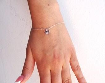 Sterling Silver Butterfly Bracelet, Butterfly jewelry, Silver Bracelet, Butterfly, Dainty Bracelet