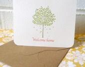 Housewarming card, new home card, welcome home card, rustic new home card, fall theme housewarming card, hostess gift card