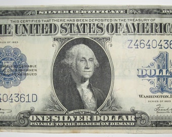 1923 HORSE BLANKET DOLLAR Bill in Excellent Condition