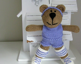 Knitted Toy - Hand Knit Bear - Stuffed Animal - Small Toy - Workout Plush Doll -Child Toy - Kids Toys - Teddy Bear Taylor