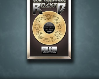 Unique Wedding Guestbook Poster - Wedding Guest book Alternative - Gold Record- Wedding Poster - Wedding gift idea- Wedding poster -Weddings