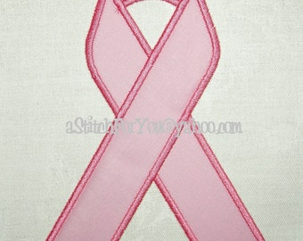 AWARENESS Ribbon Applique any Color for Cancer or Medical Military etc - INSTANT Download Machine Embroidery Design by Carrie