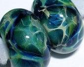 Beau Hawn GLASSADDICT Handmade Lampwork Boro Glass Artisan Beads borosilicate bead THE DEEP