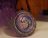Faery Ring - Glass Bead Embroidered Brooch