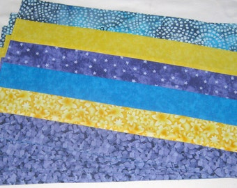 Blue Lavender Yellow Set of 4 Placemats