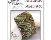Peyote Pattern - Autumn Abstract Cuff / Bracelet - A Sand Fibers For Personal/Commercial Use PDF Pattern