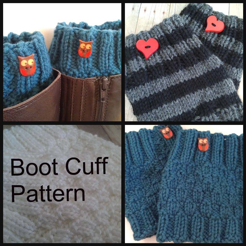 Knit Boot Cuff PATTERN PDF