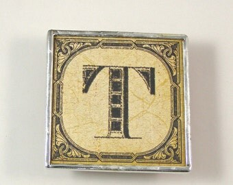 Letter T Initial Magnet