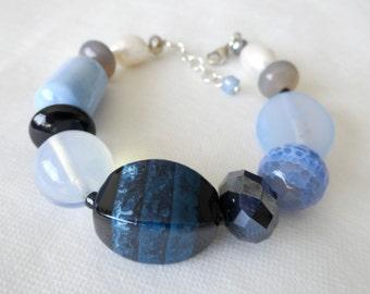 Chunky Lavender Stone Bracelet