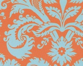 Acanthus in Duckegg  by  Amy Butler Fabric / Belle Collection / 1/2 Yd Cotton Quilt Apparel Fabric