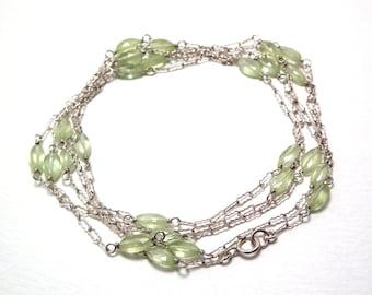 Chrysanthe - Prehnite necklace/bracelet