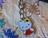 Kawaii Filofax charm - Hello Kitty in a red dress charm