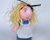 Alice in Wonderland style finger puppet