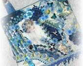 Crazy Quilt Handbag Victorian Lady Print Hand Embroidered