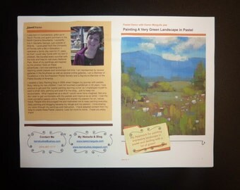 Pastel Painting Lesson Demo PDF How to Paint a Green Landscape Art Tutorial  booklet wildflowers mountains