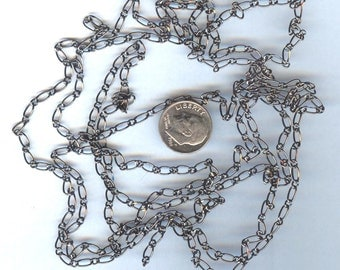 Fabulous Gunmetal Shiny Oval Link Chain 60 inches