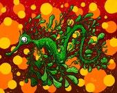 The Mysterious Leafy Seadragon 8x10 print