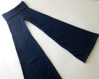 Ninja Pants -- Navy Blue Sweatshirt Fleece -- Size Medium -- Extra Long