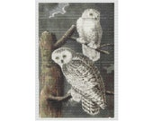 Two Owls Audobon Bird Bead Tapestry Pattern TWO DROP PEYOTE