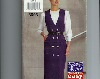 Butterick Misses' Jumper and Top Pattern 3603