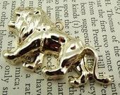 Vintage gold plated lion pendant