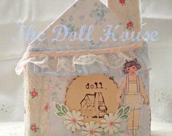 The Doll House, mixed media book TUTORIAL (junk journal, art journal)