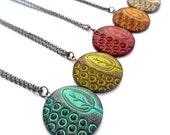 Rustic Tree Necklace, Circle Tree Pendant, Tree Jewelry