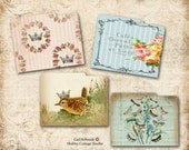 DIGITAL Download Potpourri Mini File Folders Birds Roses Crowns Scrapbooking Paper Crafts Jouranal Embellishments