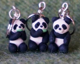 Panda stitch markers (set of 4)