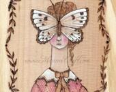 "MarmeeCraft butterfly art print, ""In Her Solitude"""