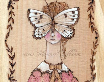 "MarmeeCraft butterfly art print, ""In Her Solitude"""