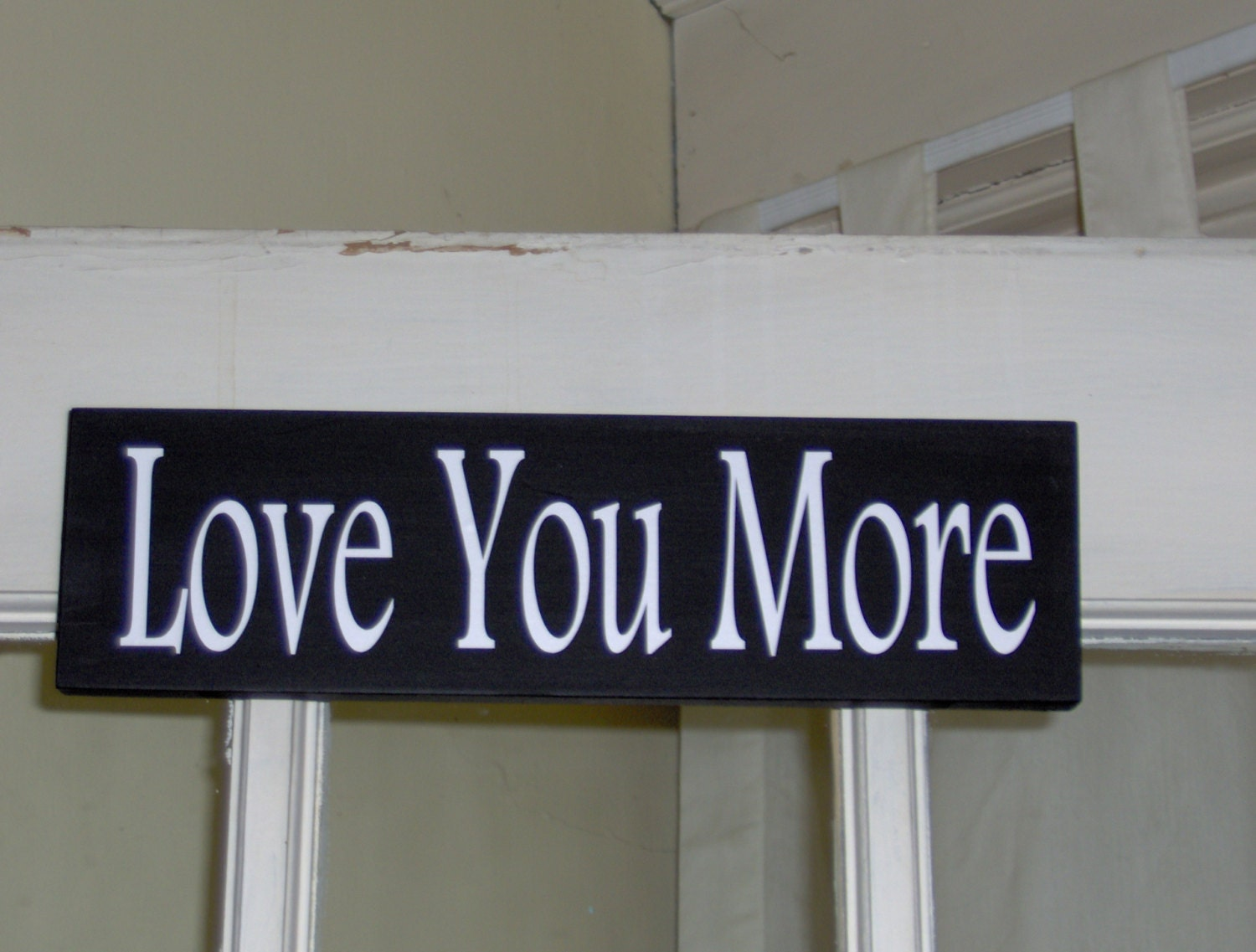 love you more wood vinyl sign wall sign table sign home decor. Black Bedroom Furniture Sets. Home Design Ideas