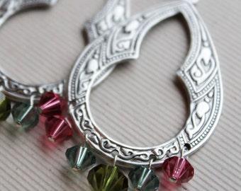 Mira Earrings - Swarovski - Silver