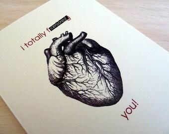 Mature Love Greeting Card - I F:cking Heart You