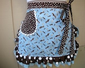 Doxie Aprons - Aprons with Dachshund Fabric - Doxie Fabric Aprons - Dog Print Half Aprons - Dachshund Handmade Apron - Annies Attic Aprons