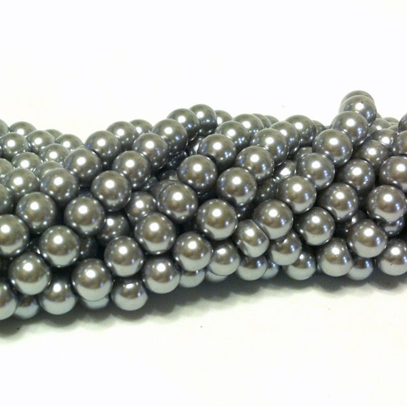 Grey Pearl Beads: Silver Pearl Beads
