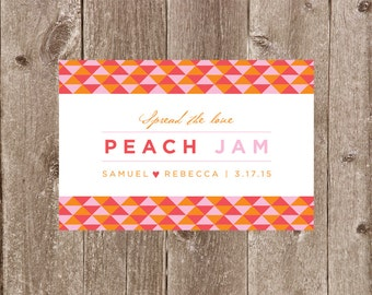 Modern Geometric Jam or Preserves Jar Wedding or Party Favor Label Printable