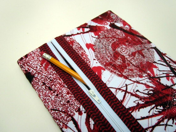 Fabric Composition Book Cover : Composition book cover fabric w zipper pocket lined blank