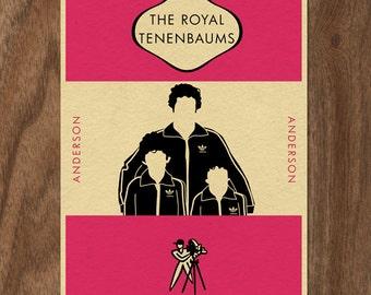 THE ROYAL TENENBAUMS Penguin Book-inspired Movie Print