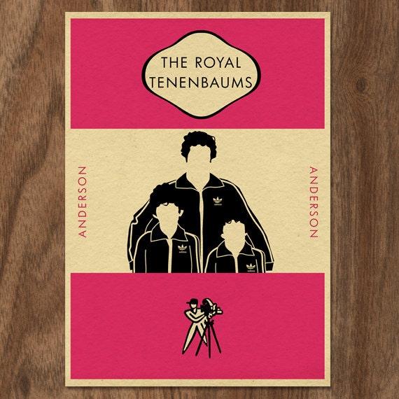 Vintage Penguin Book Cover Postcards : The royal tenenbaums penguin book inspired movie print
