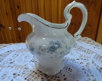 Poreclain Blue Floral Creamer Johann Haviland Bavaria Germany